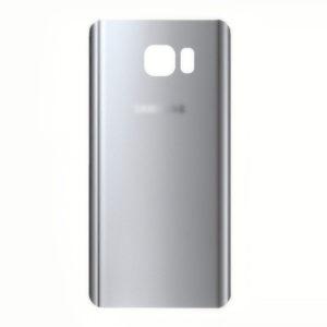 Samsung Note 5 זכוכית אחורית - כסף