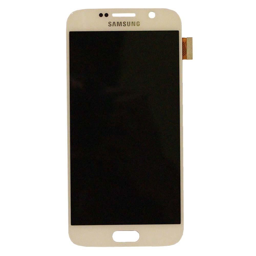 Samsung S6 LCD - לבן