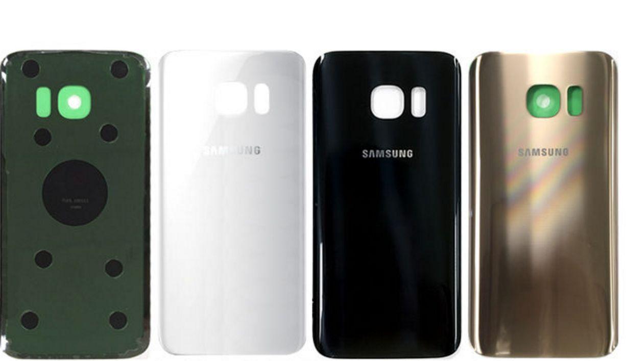 Samsung S7 זכוכית אחורית - שחור