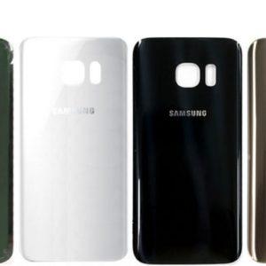 Samsung S7 זכוכית אחורית - לבן