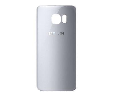 Samsung S7 Edge זכוכית אחורית - כסף