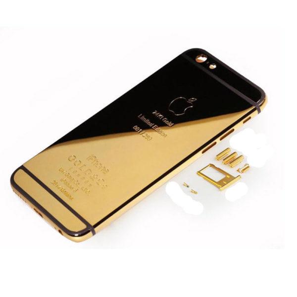 אייפון 6 Plus גב-בית המכשיר - 24K זהב Plated