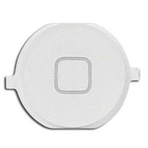אייפון 4 כפתור בית (פלסטיק) - לבן