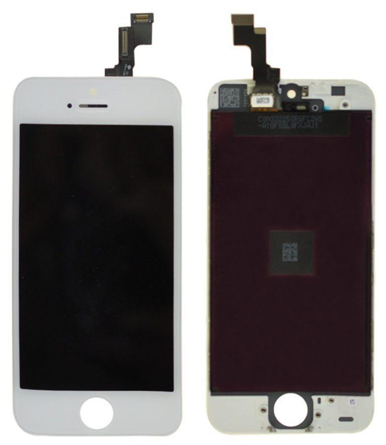 אייפון 5S LCD Screen (A/M Quality)  - לבן