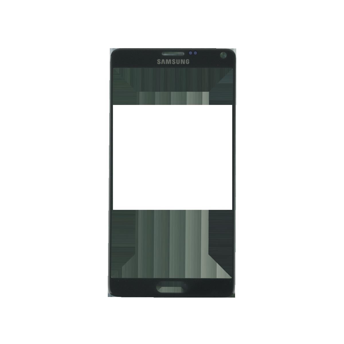 Samsung Note 4 זכוכית קדמית - שחור