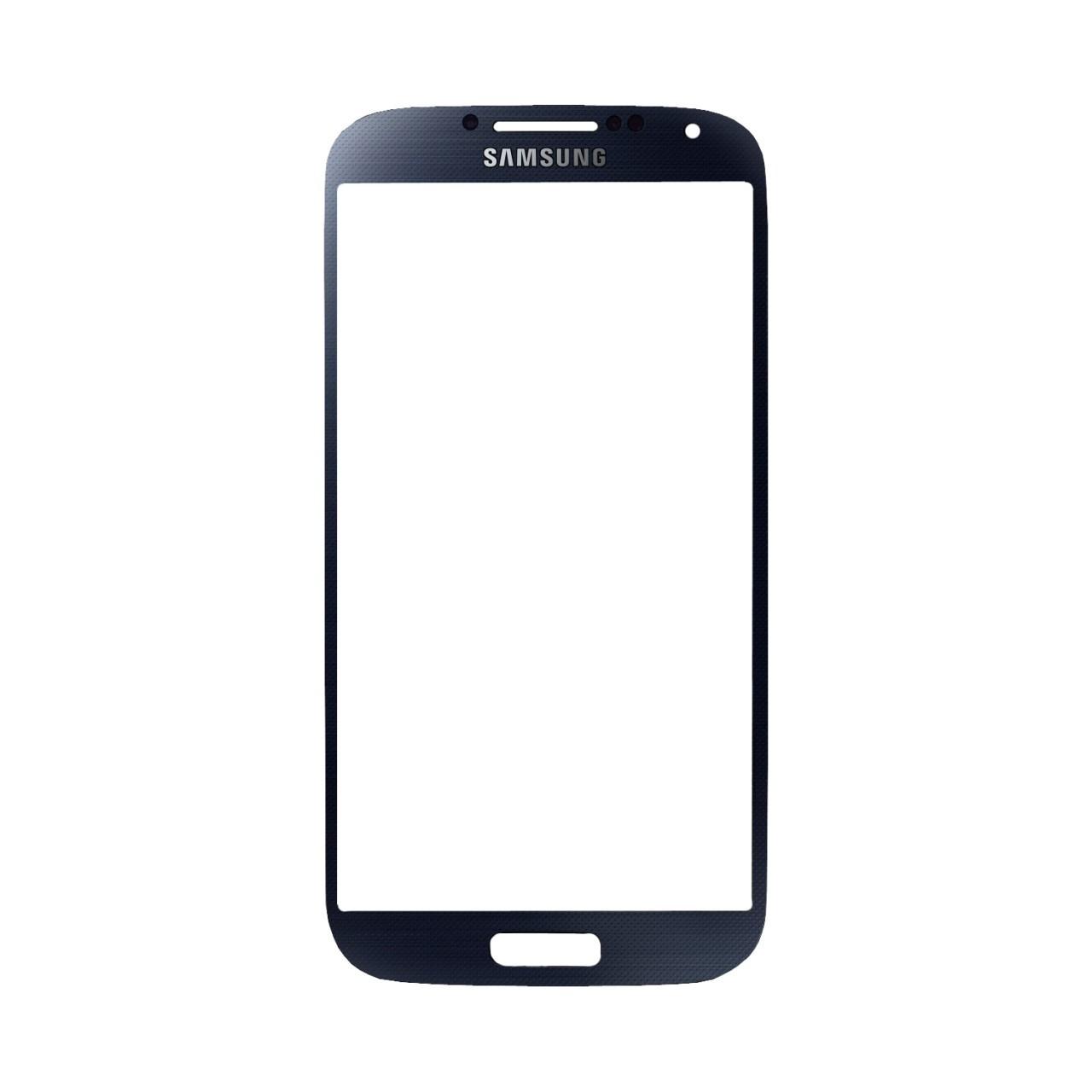 Samsung S4 זכוכית קדמית - כחול